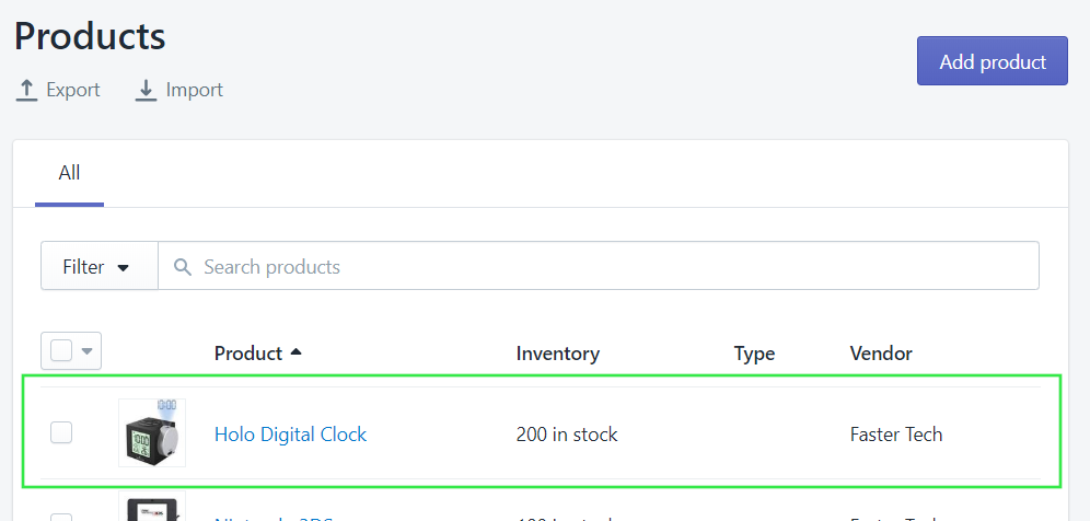 5 synced in shopify